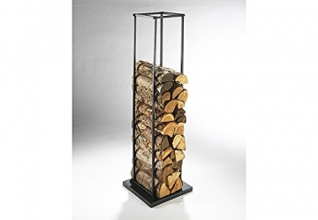 kaminholzregal aus metall 115 cm schwarz lackiert. Black Bedroom Furniture Sets. Home Design Ideas