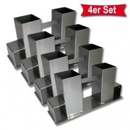 4 x Holz Stapelhilfe für Kamin- und Brennholz